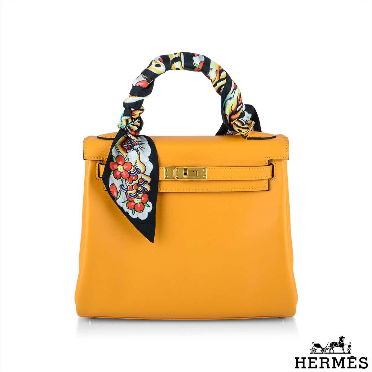 Hermès Kelly 25cm HSS Jaune Dor GHW Handbag